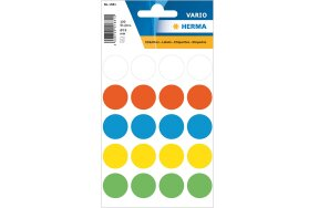 HERMA COLOUR ROUND LABELS D19mm